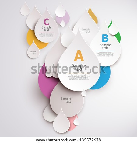 Design colorful drops. - stock vector