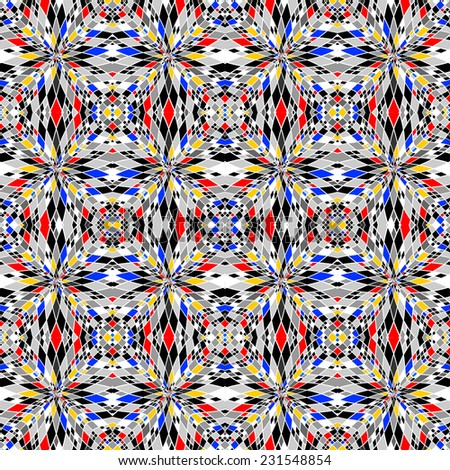 Design colorful seamless mosaic pattern. Abstract geometric background. Vector art - stock vector