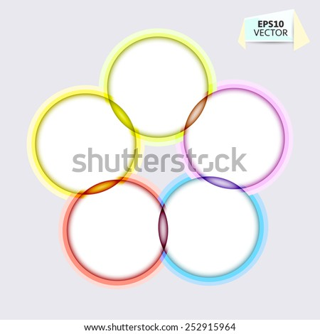 Design concept. Colorful vector circle blank background.  - stock vector