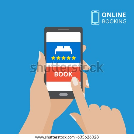 Booking hotel stock images royalty free images vectors for Hotel booking design