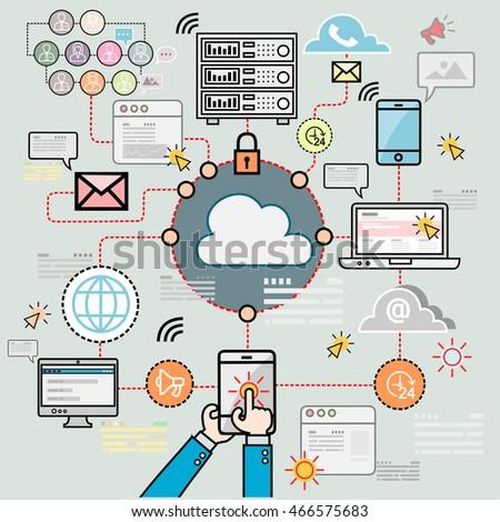Design Concepts Data Architecture Big Technology Stock Vector