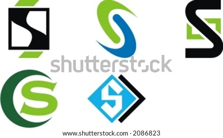 Design Concepts. Letter S. Check my portfolio for more of this series. - stock vector