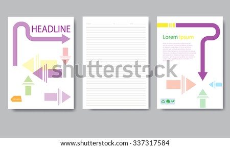 Design cover paper report. Abstract geometric vector template. Design template