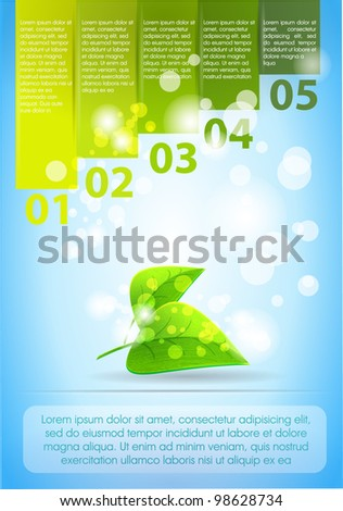 Design ecology template numbered banners. - stock vector