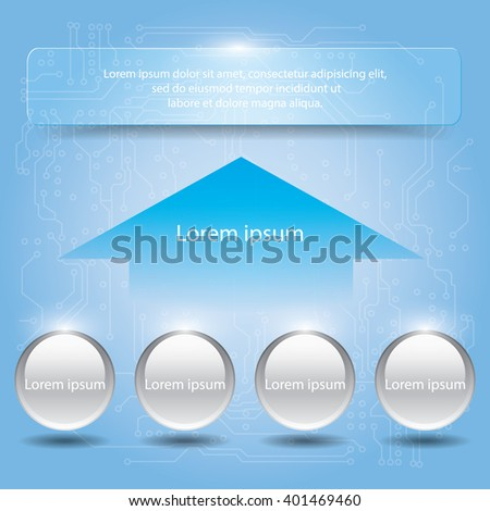Design element banners arrow background. Infographics vector illustration.