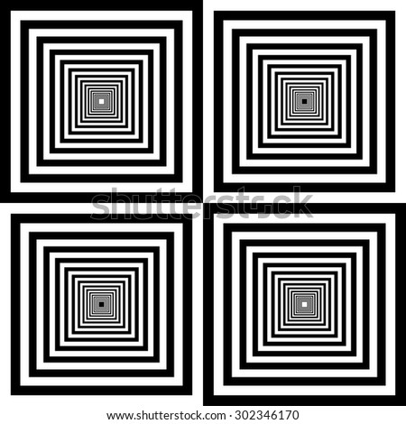 design element.  black and white squares seamless pattern - stock vector