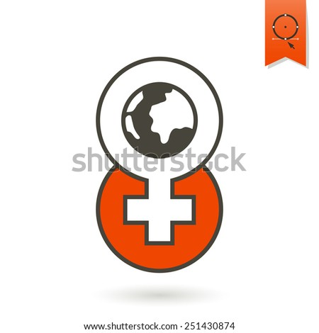 Design Element for International Women's Day March 8, Icon. Vector