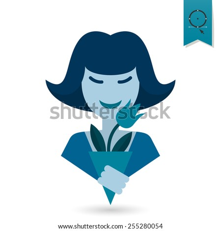 Design Element for International Womens Day March 8, Icon. Vector - stock vector