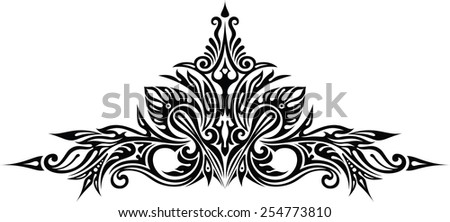 Design element I - stock vector