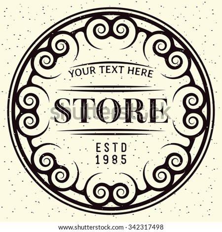 Design Element in Vintage Style for Logotype, Label, Badge and other design. Vector illustration