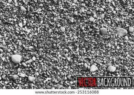 Design/element. vector Sea stones background. - stock vector