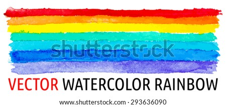 design element.  watercolor rainbow image - stock vector