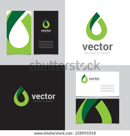 Design element with two business cards - 13 - stock vector