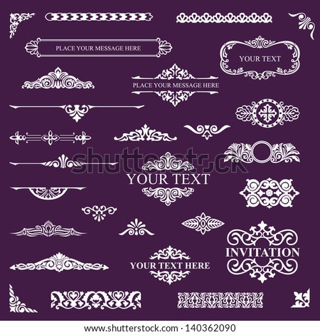 Design elements - stock vector