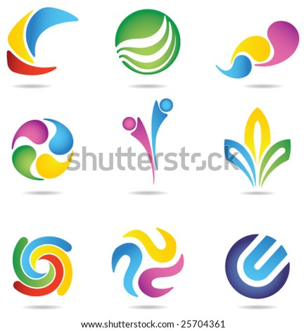 Design elements 3 - stock vector