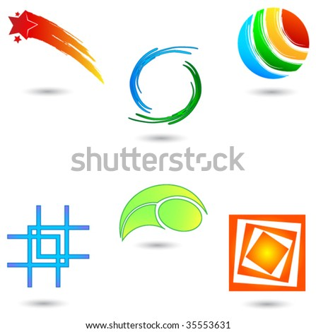 Design elements 8 - stock vector