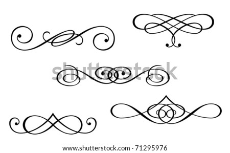 Design elements and monograms isolated on white. Jpeg version also available in gallery - stock vector