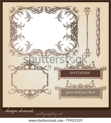 design elements and page decoration - stock vector