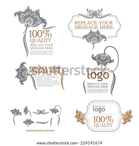 design elements and page decoration - lots of useful elements to embellish your layout - stock vector
