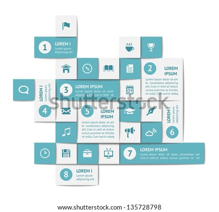 Design elements and templates. EPS10 vector illustration. - stock vector
