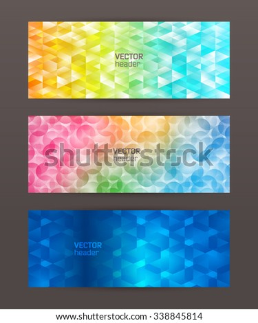 Design elements business presentation template. Vector illustration horizontal web banners background, backdrop glow light effect . EPS 10 for web buttons template, web site page presentation - stock vector