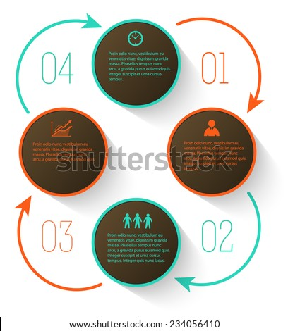 Design elements circle style background business presentation template. Vector illustration EPS 10 for technology info graphics, number banners, website page layout / report firm, ect.