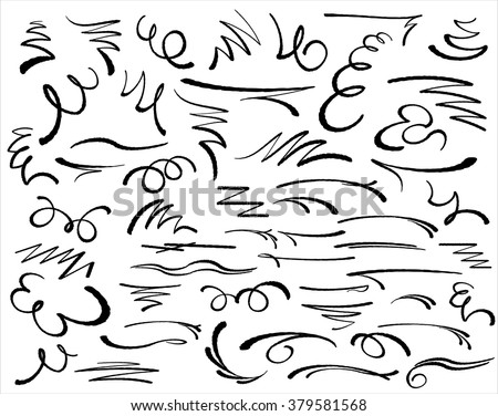 Design elements.Decorative  illustration. Vector. - stock vector