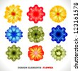 Design Elements. Flower. - stock vector
