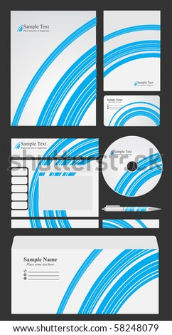 design elements for business - stock vector