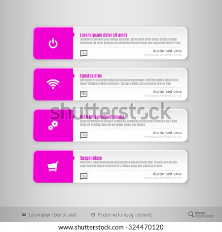 Design Elements Infographics Layout Web Pages Stock Vector 324470120