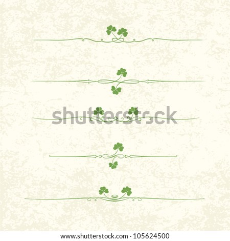 Design Elements For St. Patrick's Day. EPS10 - stock vector