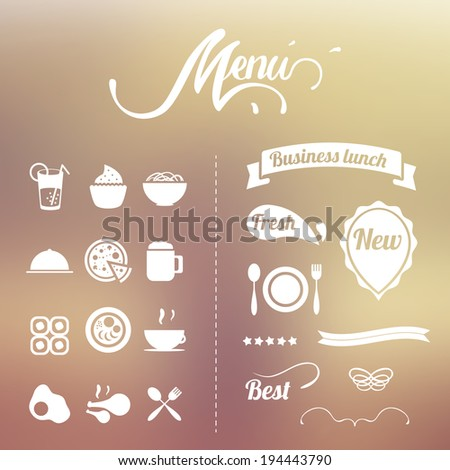 design elements for the summer menu  - stock vector
