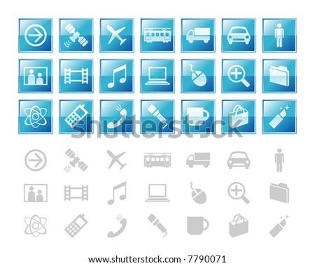 design elements / icon 1 - stock vector