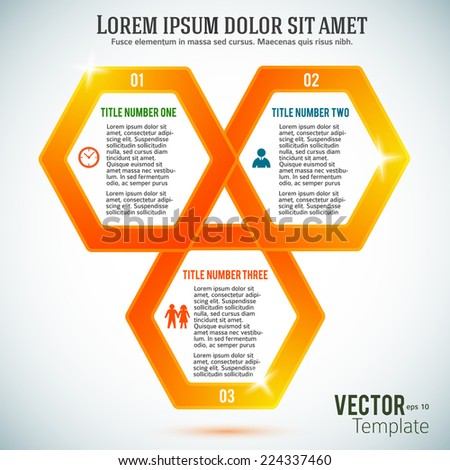 Design elements modern style background business presentation template. Vector illustration EPS 10 for technology info graphics, number banners, website page layout / report firm, ect.  - stock vector