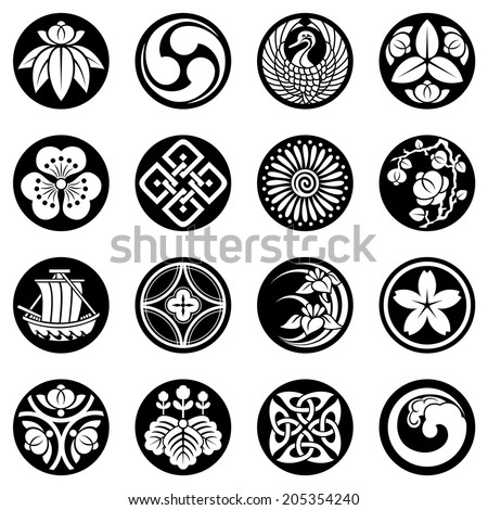 design elements of Southeast Asia - stock vector