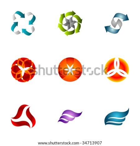 Design elements or logotype design - Set 26 - stock vector