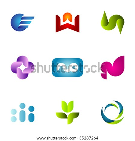 Design elements or logotype design- Set 36 - stock vector