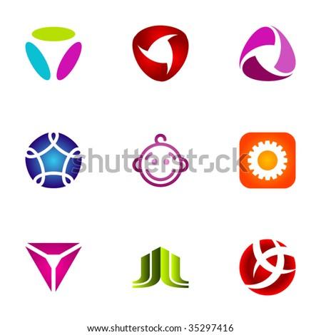 Design elements or logotype design - Set 34 - stock vector