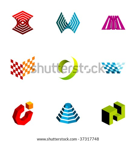 Design elements or logotype design - Set 73