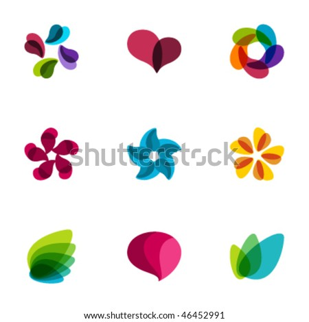 Design elements - Set 121 - stock vector