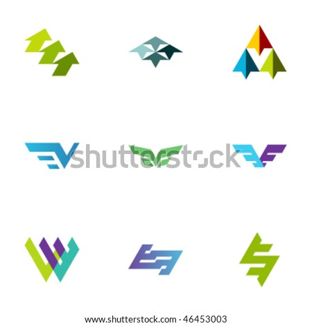 Design elements - Set 119 - stock vector