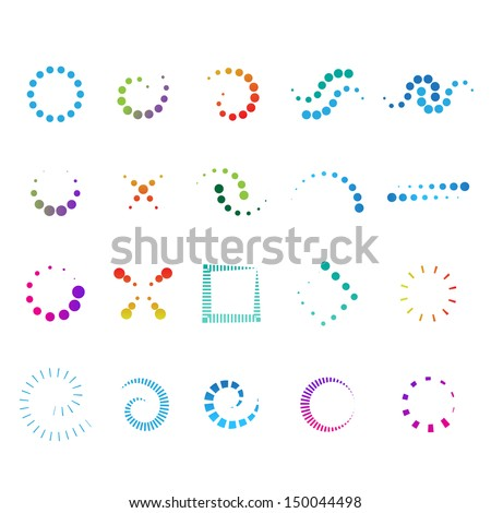 Design Elements Set - Isolated On White Background - Vector Illustration, Graphic Design Editable For Your Design. Design Flat Logo - stock vector