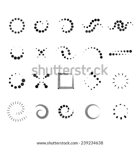 Design Elements Set - Isolated On White Background - Vector Illustration, Graphic Design Editable For Your Design.  - stock vector