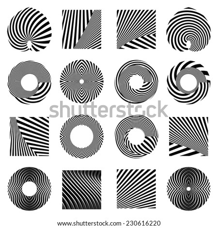 Design elements set. Vector art. - stock vector