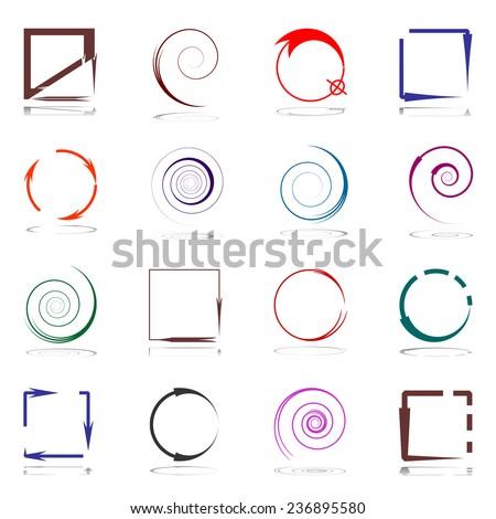 Design elements set with arrows. Vector art. - stock vector