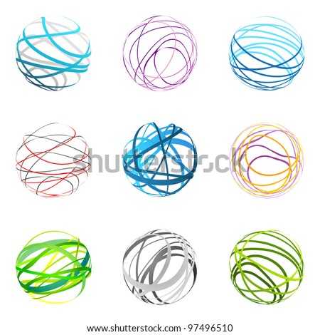 Design Elements | sphere set 2 - stock vector