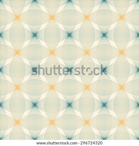 Design elements - tangled brown waves pattern. Seamless background with thin   lines. Vector illustration. - stock vector