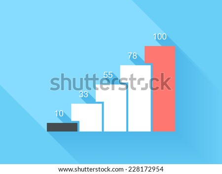 Design elements Vector illustration of business infographics. 3D infographic with long shadow. - stock vector