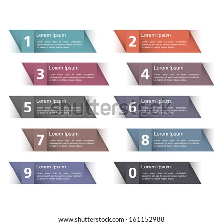 Design elements with numbers, vector eps10 illustration - stock vector