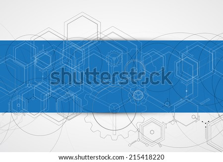 Design Engineering Science like a Modern Technology background - stock vector